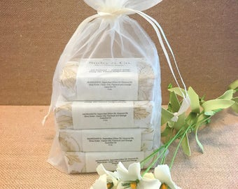Ivory Organza Gift Bag Soap