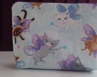 Cats makeup bag, cosmetics bag, toiletries bag