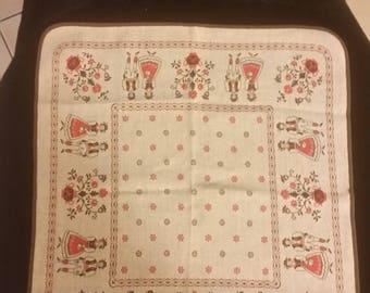 Tablecloth  West Germany Folk Attired