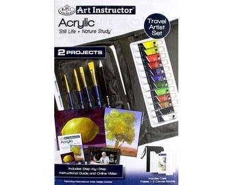 Royal Art Instructor Travel Artist Set Acrylic - 22 PC