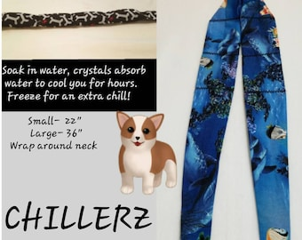 Chillerz Neck Cooler- Gel Filled- Cooling Wrap- Flags, Dogs, Misc Prints