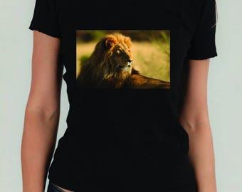 T-shirt unisexe personnalisé Lion Animaux