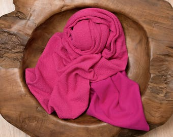 Hot pink newborn photography wrap, stretch knit wrap, jersey wrap, newborn photography props, newborn prop, pink newborn wrap