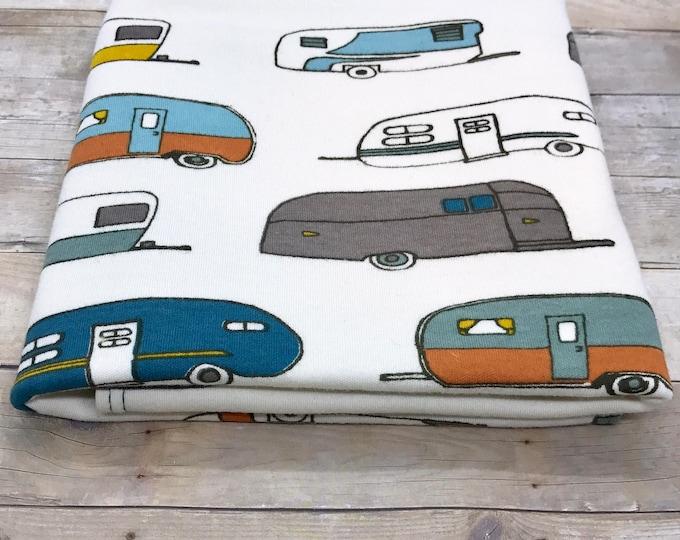 """24"""" x 40"""" airstream camper organic cotton t-shirt hair towel"""