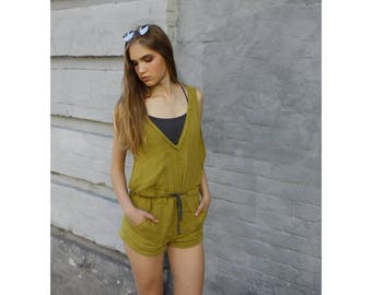 Linen jumpsuit To order Individual sewing Overall Jumpsuit Womens romper Women Overall Summer Overall Sports overalls