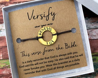 Christian Jewelry - Versify - Wear Your Verse - Bible Verse Bracelet - Christian and Faith Jewelry Gift