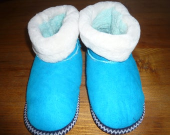 Women's Natural sheep wool Slippers Shoes Sheepskin Leather Size US 10