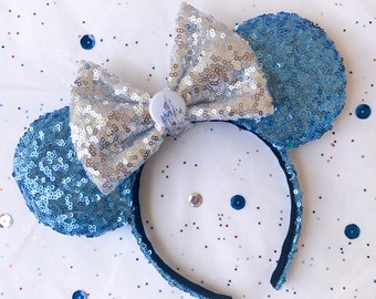 Cinderella Inspired Sequins Minnie Mouse Ears