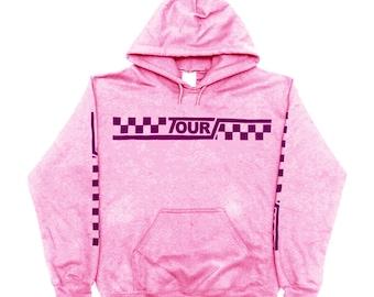 Justin Bieber Purpose Tour Stadium Tour Moto Checkered Merch Hoodie Sweatshirt