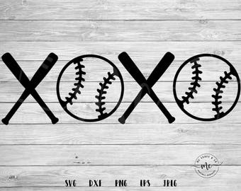 xoxo svg, baseball bat svg, Baseball SVG, Baseball Mom, Sports SVG, Baller SVG, Cricut, Silhouette, Cut Files, svg, dxf, png, eps, jpeg