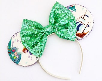 The Mermaid Lagoon - Handmade Peter Pan inspired Mouse Ears Headband