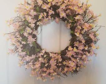Spring wreath/ summer wreath / holiday wreath/ housewarming wreath/ housewarming gift/ door wreath/ front door wreath/ top selling wreath