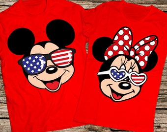 4th of july couple shirts, Disney shirts, Disney couple shirt, Mickey and Minnie Couple shirt, Matching Couple Shirt, Disney vacation shirts