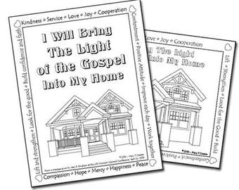 Light of the Gospel Coloring Page