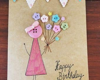 Little Flower Bouquet Birthday Girl