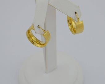 14k Yellow Gold Estate Hoop Earrings(02927)