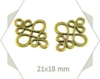 10 bronze arabesques BB13 charms earrings bracelet connectors
