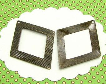 6 charms diamond openwork bronze BB55
