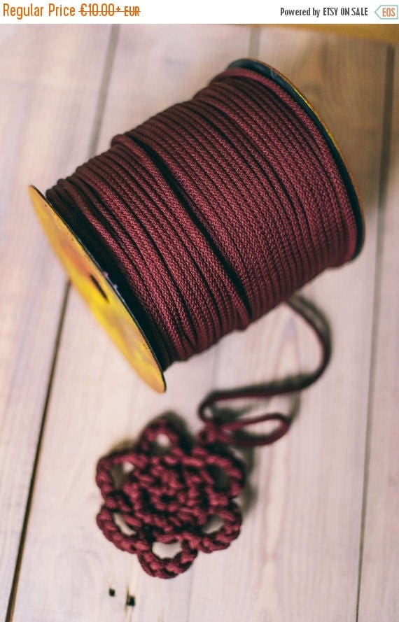 15 % OFF CLARET yarn, claret macrame cord, craft yarn, knitting supplies, knitting yarn, macrame yarn, macrame rope, crochet yarn, claret ya