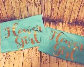 FREE SHIPPING | Flower Girl Shirt | Wedding Party | Flower Girl Gift