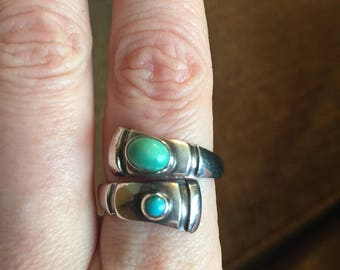 Turquoise bypass ring