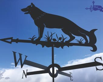 WOLF Metal Plasmacut Wind Direction Roof Decor
