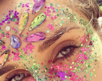 Forest fairy Face jewels / gems