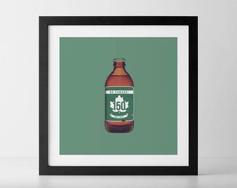 Trans-Canada 150 Stubby Beer Bottle