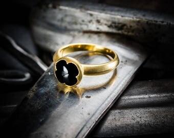 Byzantine ring with onyx