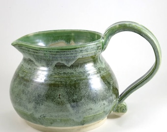 Jade Green Frosted Pitcher