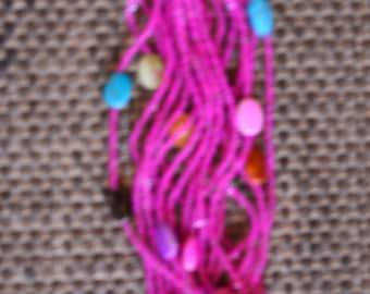 African Maasai Beaded Bracelet | Light Pink Bracelet | One Button Bracelet | Elegant | Beautiful Bracelet |Button Fastening| Gift For Her
