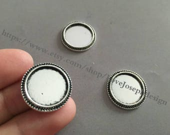 wholesale 20Pieces /Lot Antique Silver Plated 16mm (inner)cabochon bezel trays charms(#0496)