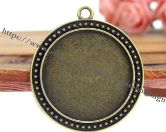 wholesale 20 Pieces /Lot Antique Bronze Plated 30mm cabochon trays charms (#0524)