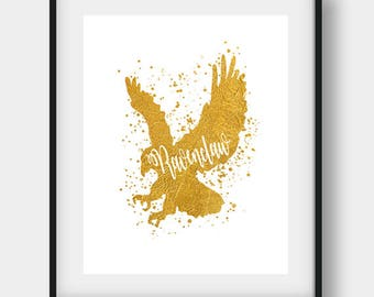 Ravenclaw Eagle, Harry Potter, Harry Potter Art, Ravenclaw Eagle Gift, Harry Potter Print, Ravenclaw Eagle Print, Ravenclaw Eagle Art