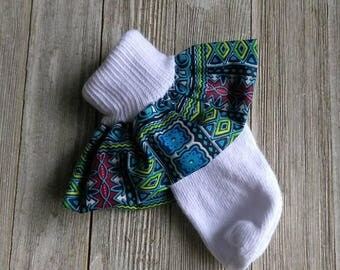 African print socks, baby ruffle socks, dashiki print socks, Navy socks, Baby African clothing, church ruffle socks, fabric ruffle