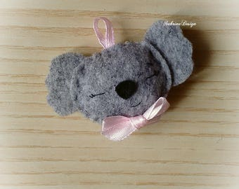 Koala felt boy favor baby shower baptism favors 1st birthday favors koala pendant felt keychain
