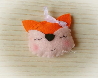 Fox favor, woodland animals favors, baptism favors, baby shower favors, felt animals, woodland party, animals favors