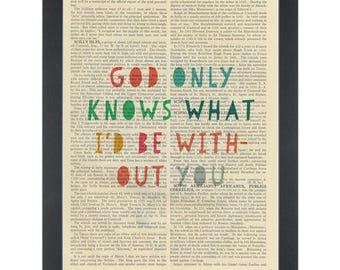 Beach Boys lyrics God Only Knows Dictionary Art Print