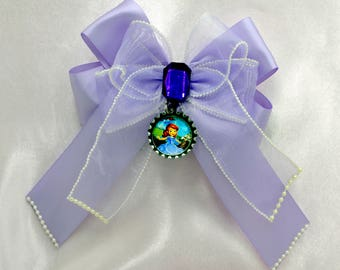 Sophia Bottle Cap Bow with Tails