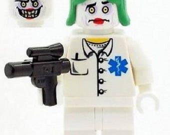 Batman Joker As Nurse with Weapon - Made From LEGO Parts