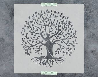Tree of Life Stencil - Reusable DIY Craft Stencils of a Tree of Life - Small & Large Sizes Great for Wall Art