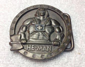 He Man Belt Buckle 1984 Mattel Kids Collectable Metal Belt Buckle
