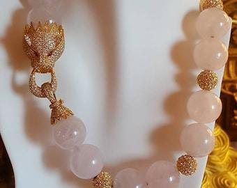 Pink Leopard Necklace