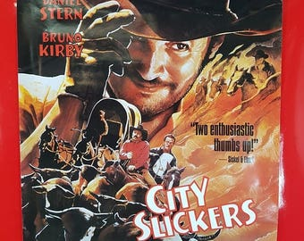 SALE 1990's City Slickers Movie Poster / Antique City Slickers Original Movie Advert Poster 90s Pop Culture Collectible Movie Poster