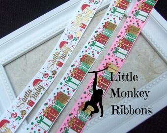 Santa Baby Ribbon, Christmas Ribbon, Grosgrain Ribbon, Presents