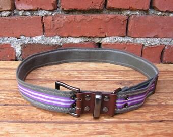 Belt ESPRIT Purple Gray Belt Vintage Textile Leather Belt Metal Buckle Lady belt Slim female belt Accessories garment