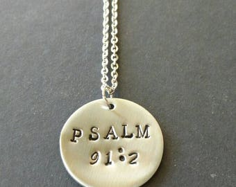 Hand stamped Stainless Steel necklace, Bible verse jewelry, Bible jewellery, Christian Necklace, baptism gift, confirmation gift, scripture