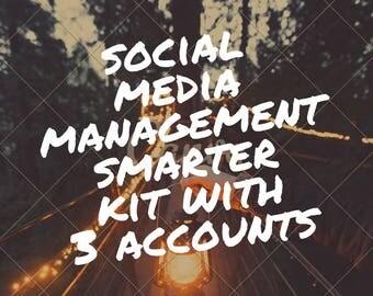 Social media management smarter kit, seo, social media marketing, smarter kit, facebook, twitter, pinterest, instagram management, branding