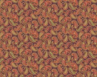 Andover Fabrics - Brown Paisley - Carlisle by Kathy Hall - Reproduction