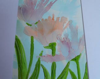 One of a kind Alcohol Ink Paintings. Parrot Tulips Custom orders welcome. All unique